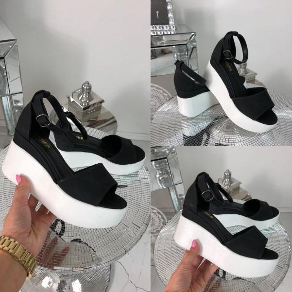 Super boty na platformě - černé