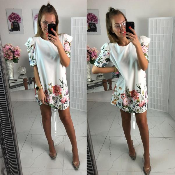 Flowers šaty - bílé