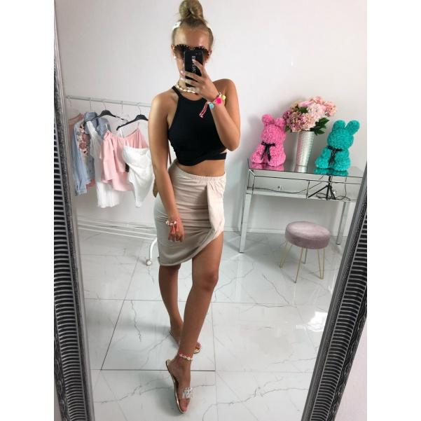 Asymetrická sukně - béžová