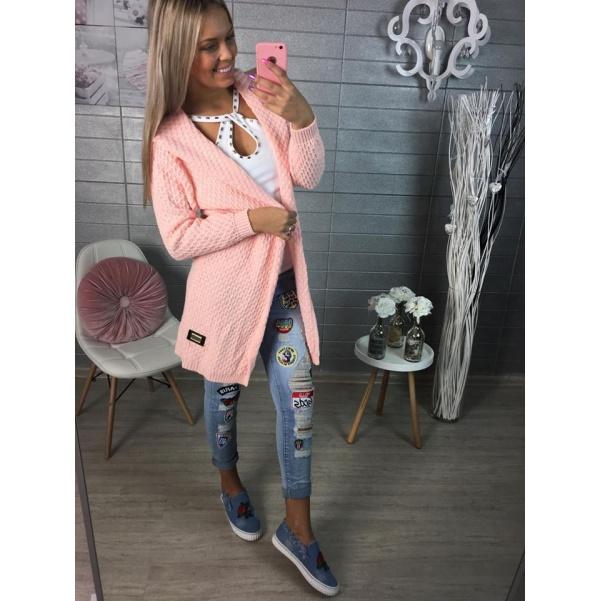 Pink svetřík s kapucí