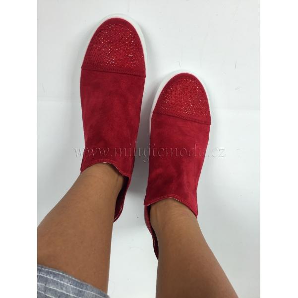 Stylové červené botky