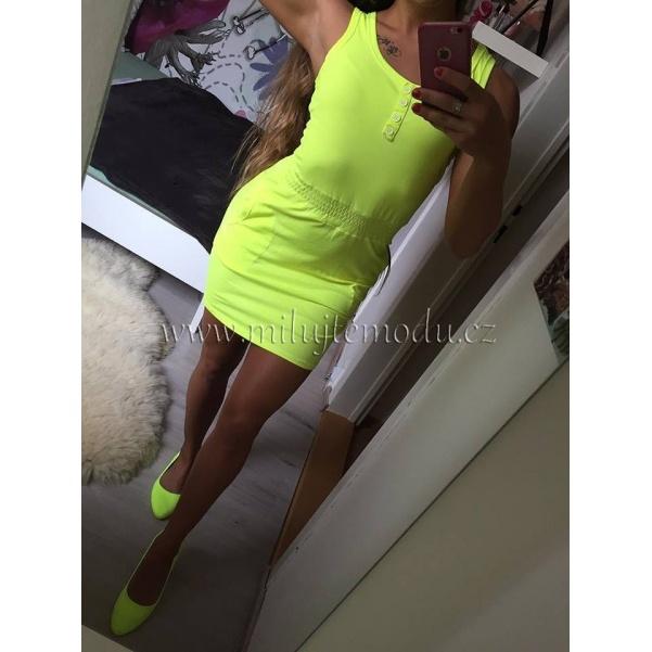 Žluté neon šaty