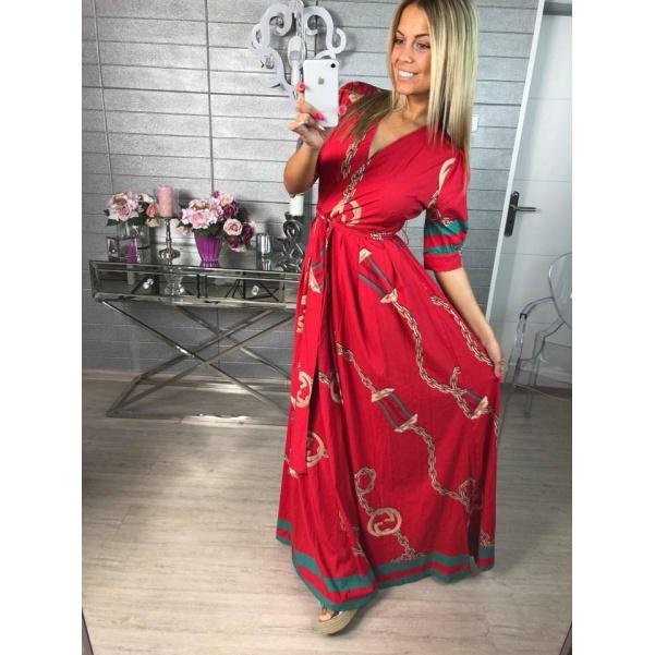 Luxusní šaty ala Gucci - Long red