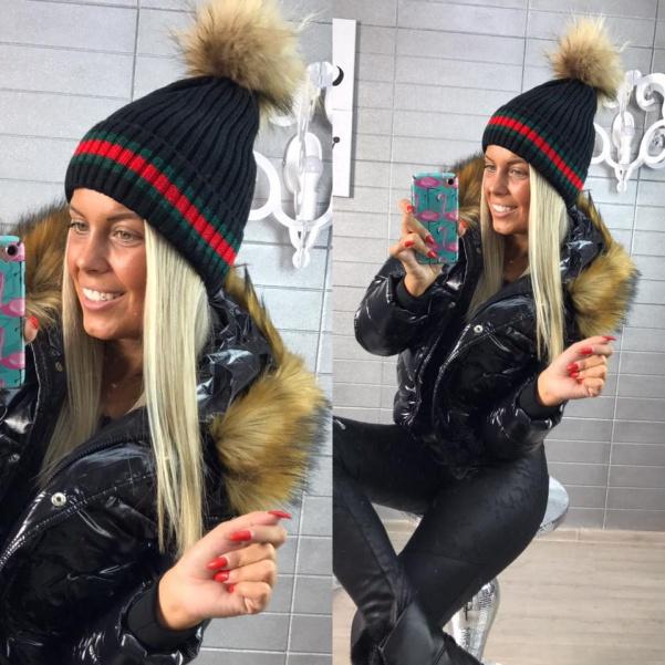 Čepice ala Gucci černá