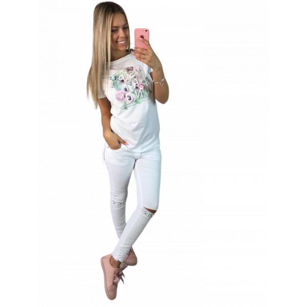 Bílé tričko Spring