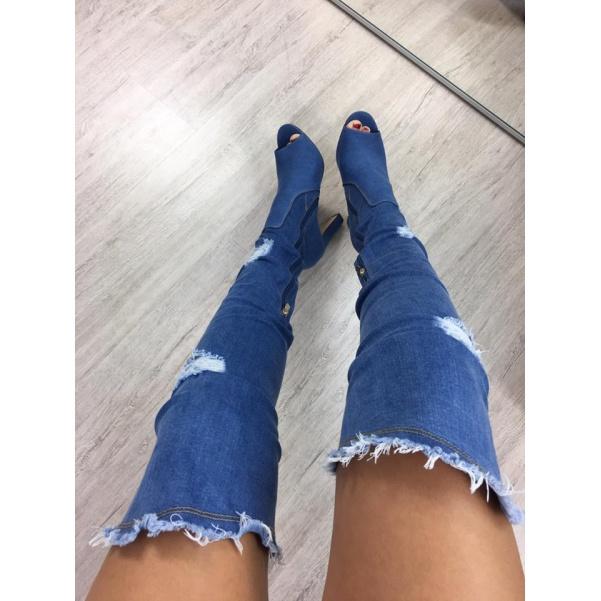 TOP jeansové kozačky