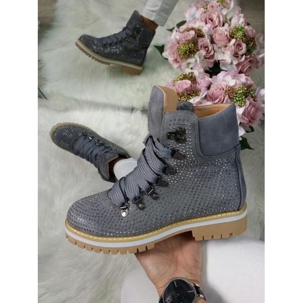 Kamínkové botičky grey