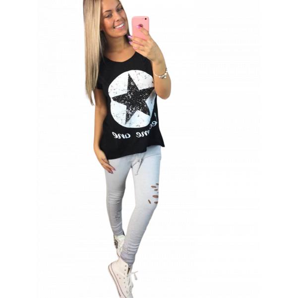 Černé tričko STAR