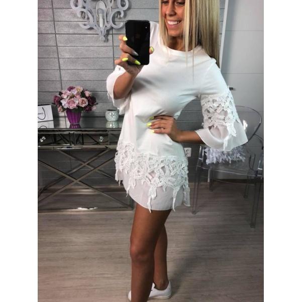 Kraječkové šaty bílé