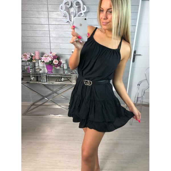 Bavlněné letní šatičky - black
