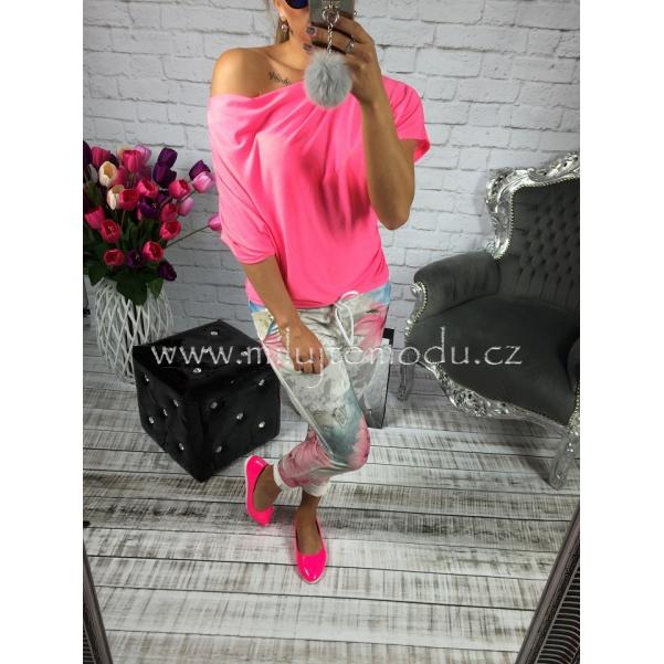 Neon růžová tunika