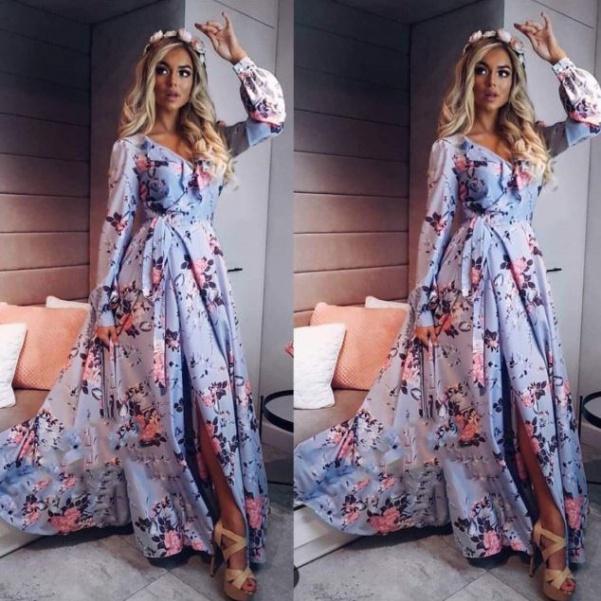 Luxusní hedvábné šaty s kytičkami