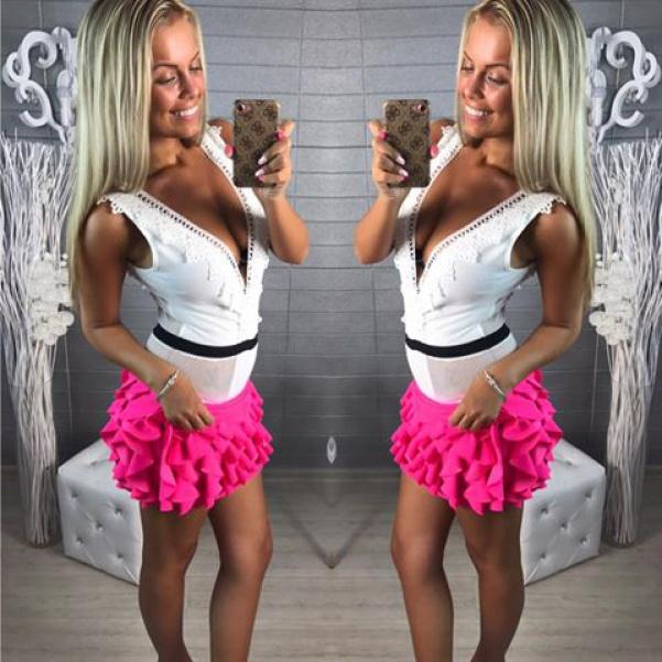 """Neón Pink suknička """"Vivien"""""""