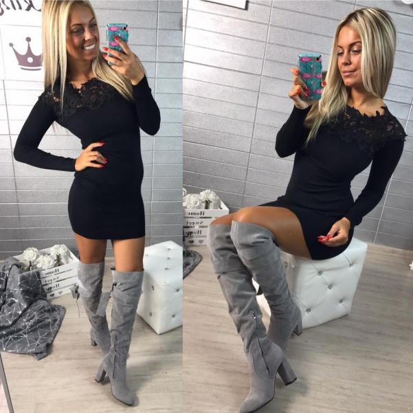 Šaty černé s krajkou