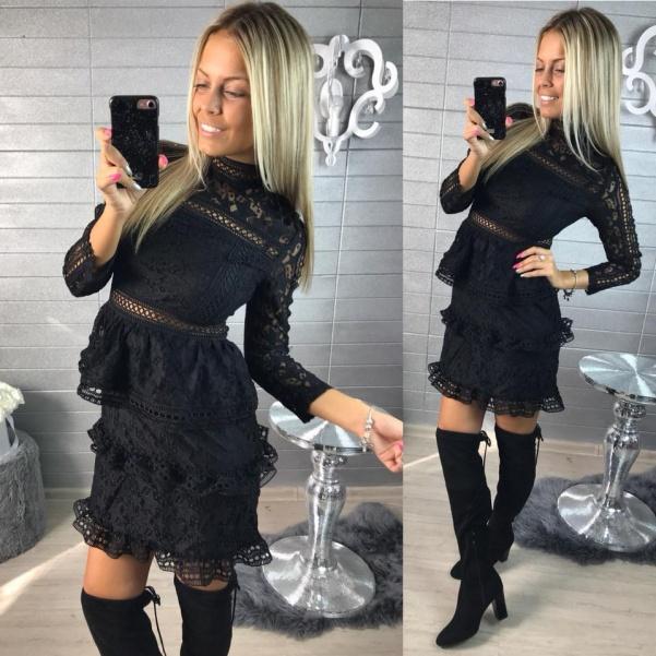 Krajkové šatičky De Luxe černé