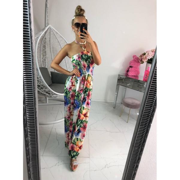 Dlouhé šaty - flowers