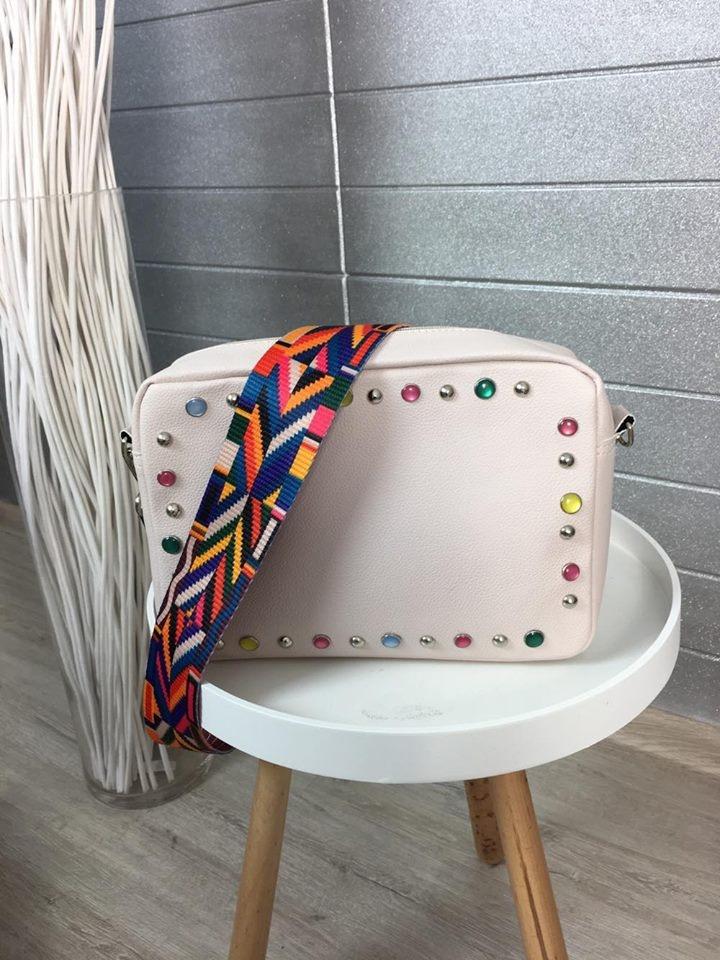 Pink kabelka s kamínky