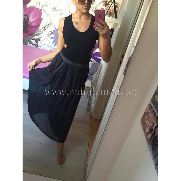 Hedvábná sukně s flitry