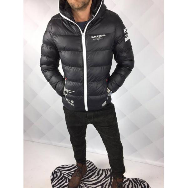 Zimní stylová bunda s kapucí