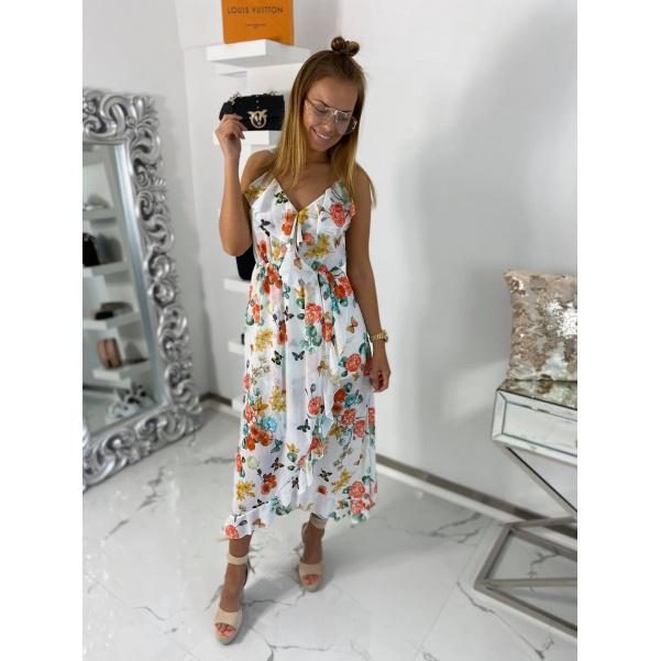 Krásné flowers šaty