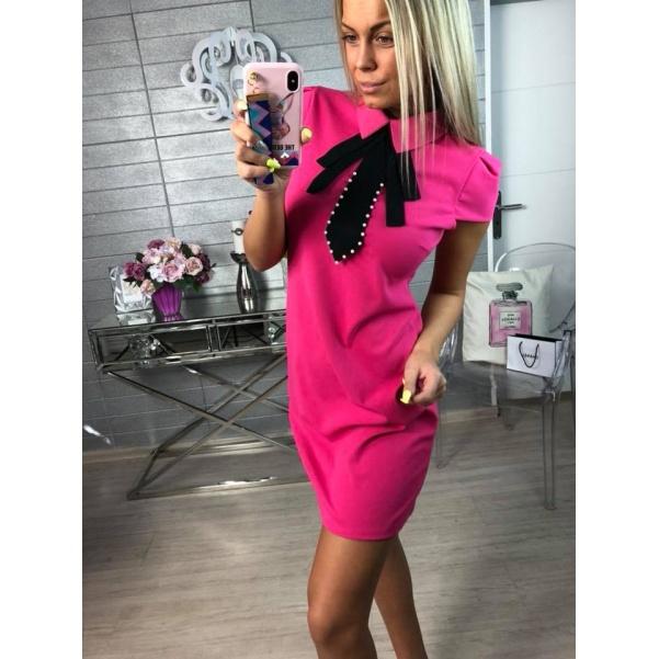 Šaty s límečkem růžové