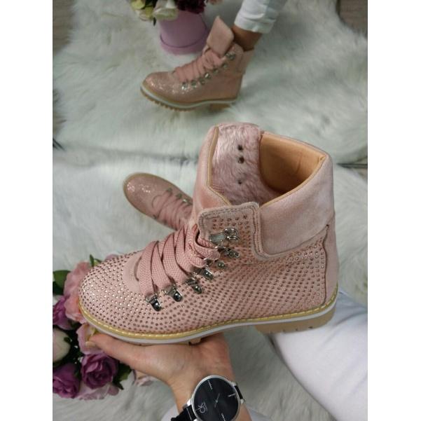 Kamínkové botičky pink
