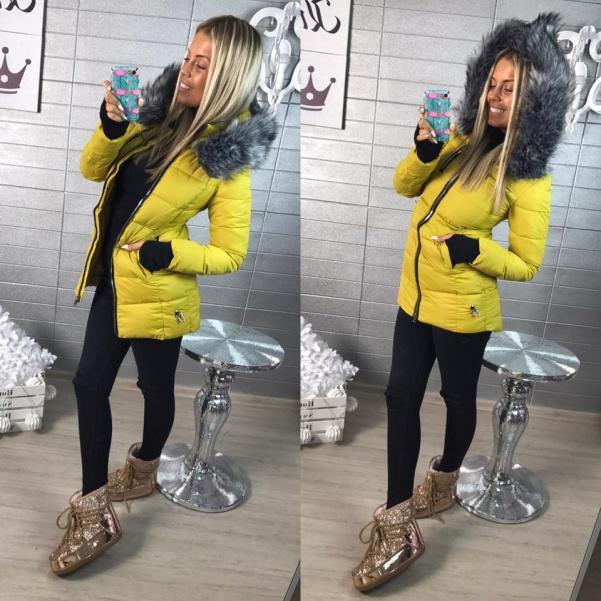 Super zimní bundička - žlutá