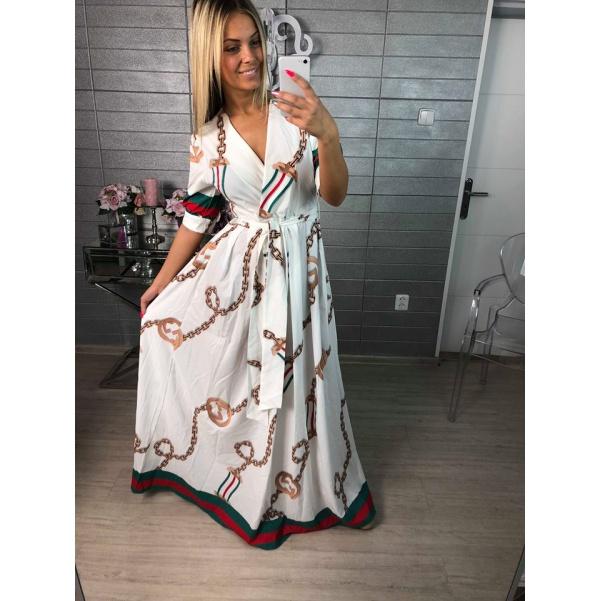 Luxusní šaty ala Gucci - Long white