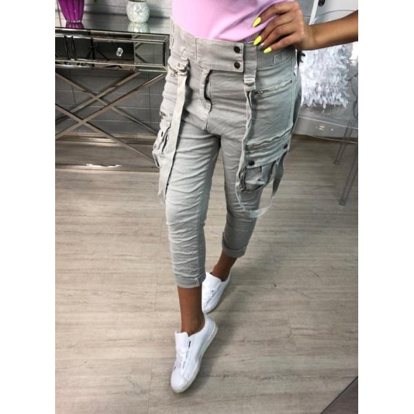 Top kalhoty šedé