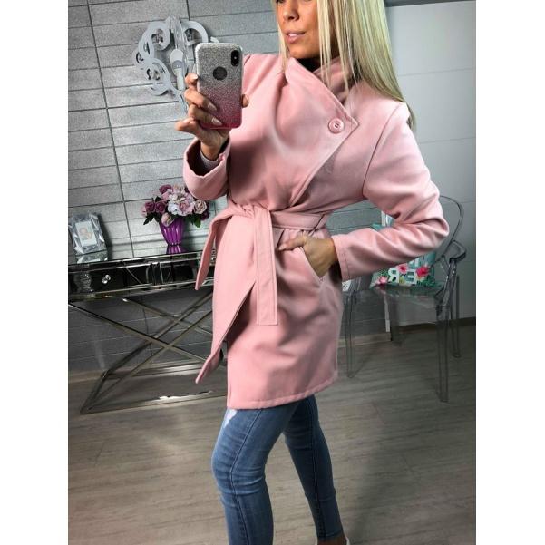 Flaušový kabátek - Růžový
