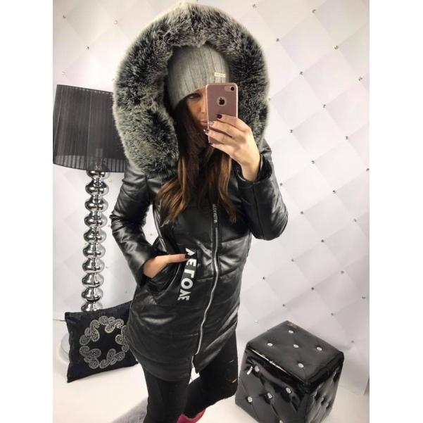 Luxusní bunda s bohatou kožešinkou