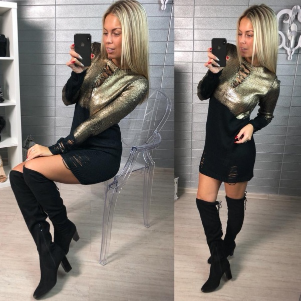 Luxusní svetřík- zlatý