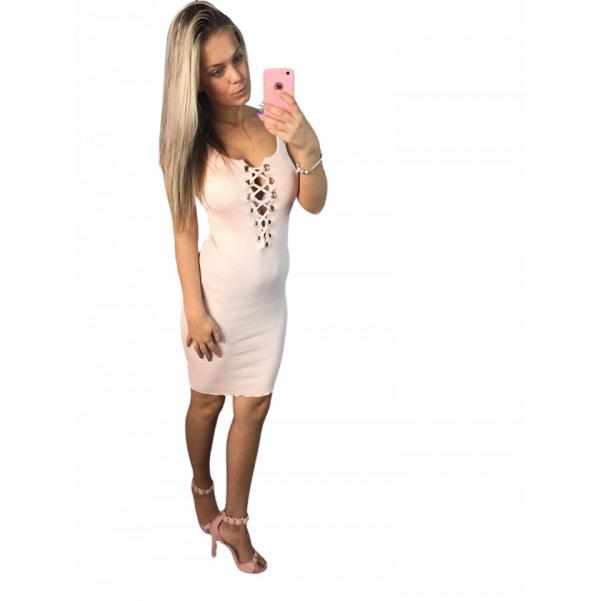 Pink  luxusní šatičky s vázaním