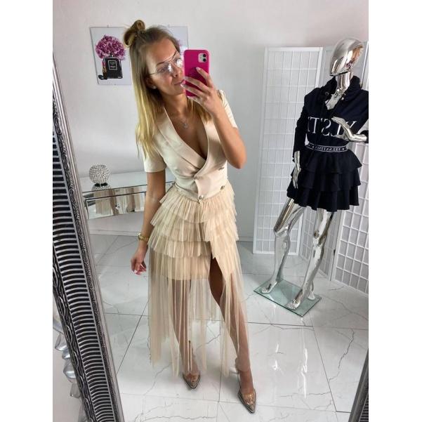 Krásné šaty - sako a dlouhá sukně