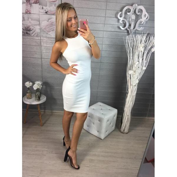 Slim bílé šatičky