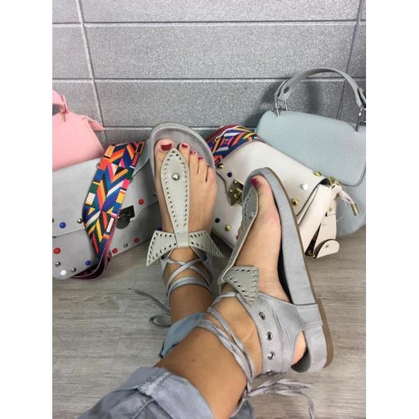 Luxusní šedé sandálky TOP Novinka