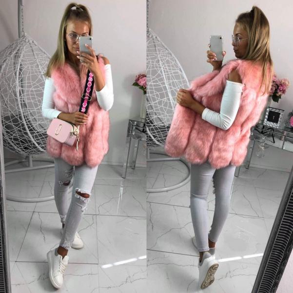 Růžová vesta - cornelia