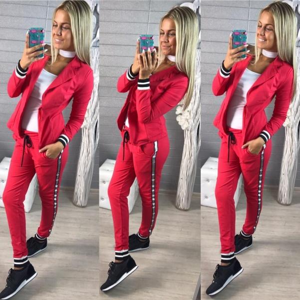 Elastické pohodová sako - červená barva