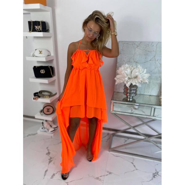 Dokonalé šaty - Colett neon oranžové