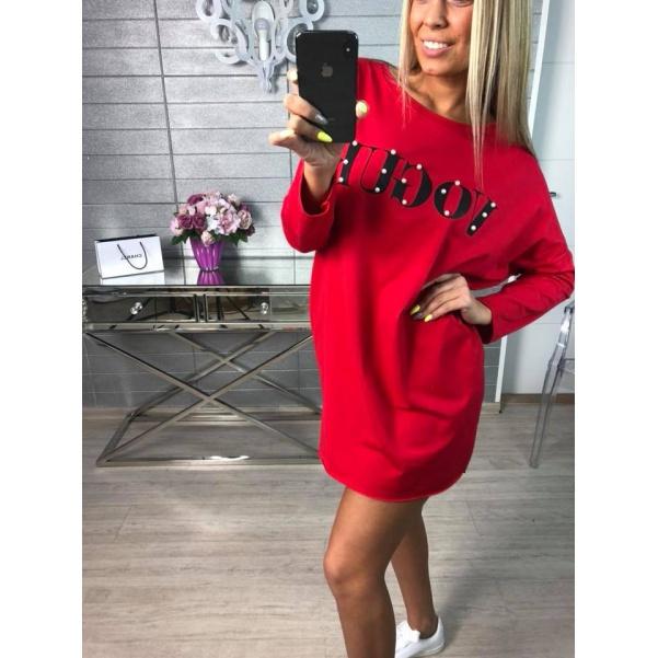 Vogue tunikošaty červené