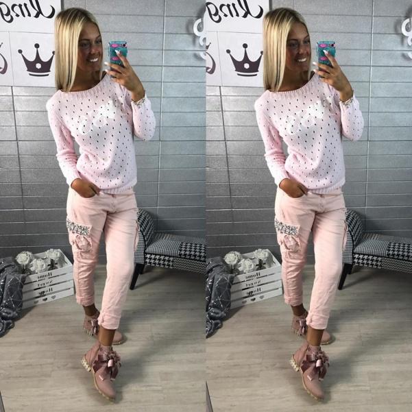 Boss svetřík - pink