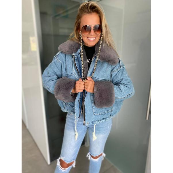 Dokonalá riflová bunda s kožíšky