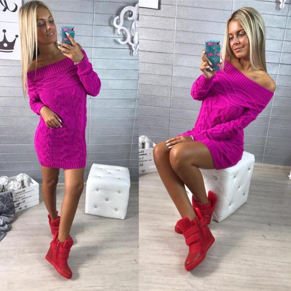 Top svetříkové šatičky fialové