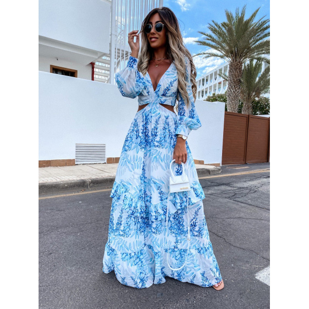 Luxusní šaty - long Blue
