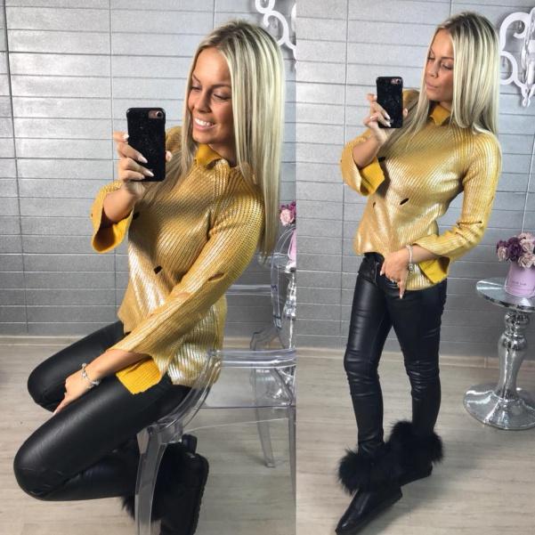 Lesklý svetřík yellow