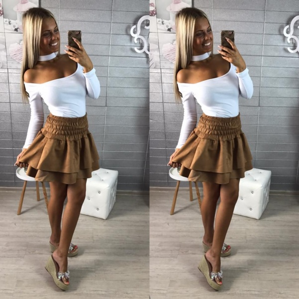 Béžová suknička
