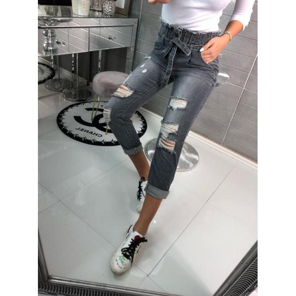 Šedé stylové jeans