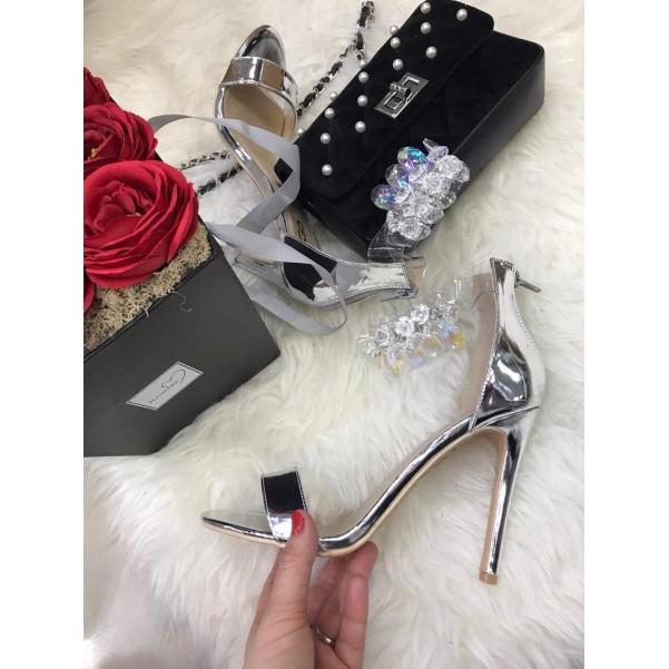 Luxusní botičky zdobené krystaly - SILVER