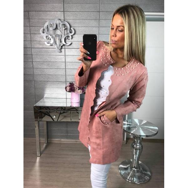 Růžový kabátek pearls