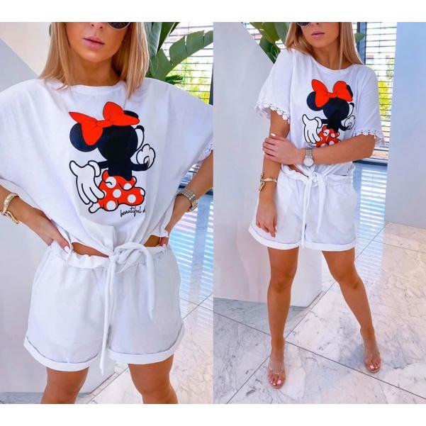 Komplet Mickey - bílý